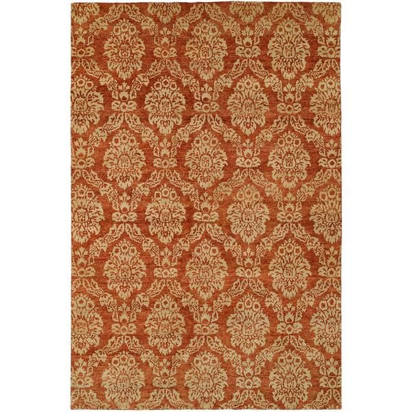 Royal Manner Derbshire/Rust Hand-Knotted Area Rug (2' x 3')