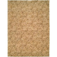 Royal Manner Estates Sandy Beige Wool Hand-knotted Area Rug (3' x 5') - 3' x 5'