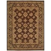 Sierra Brown Wool Soumak Area Rug - 2'6 x 8'
