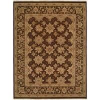 Sierra Soumak Brown Wool Area Rug (6' x 9')