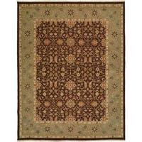 Sierra Ivory/Rust Wool Soumak Area Rug - 10' x 14'