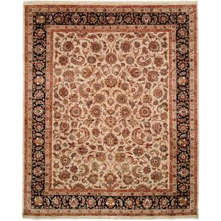 Tabernacle Ivory/Black Hand-Knotted Area Rug - 2' x 3'