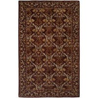 Terrazzo Brown Wool Hand-tufted Area Rug (8' x 10')