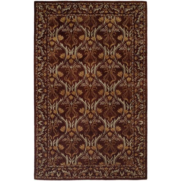 Terrazzo Print Hand-tufted Brown Wool Indoor Rectangular Area Rug (9' x 12') - 9' x 12'