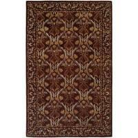 Terrazzo Brown Wool Hand-tufted Area Rug (9'6 x 13'6)