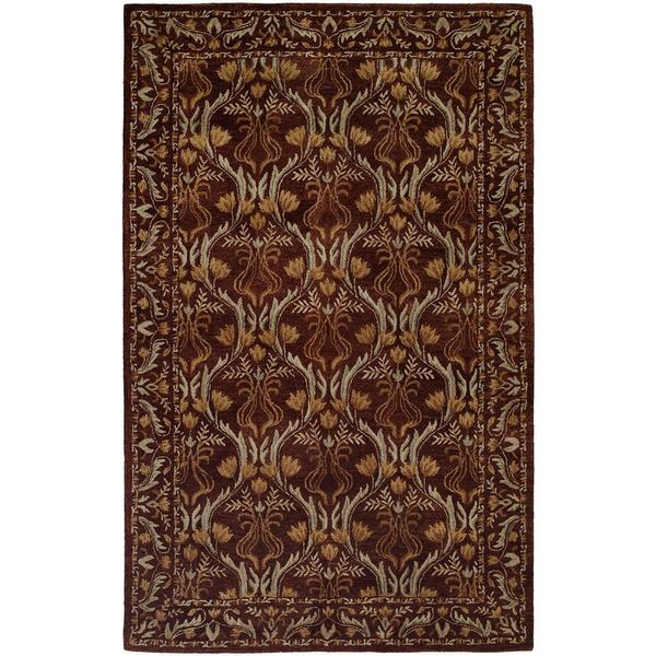 Terrazzo Brown Wool Hand-tufted Area Rug (9'6 x 13'6)