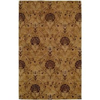 Terrazzo Gold Wool Hand-tufted Area Rug (9' x 12') - 9' x 12'