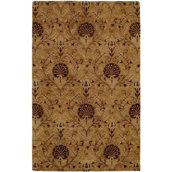 Terrazzo Gold Wool Hand-tufted Area Rug - 9' x 12'