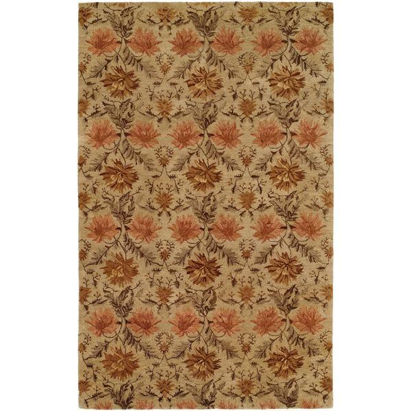 Terrazzo Sand Wool Hand-tufted Area Rug (8' x 10')