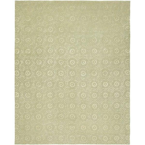 Valencia Beige Hand-tufted Wool Area Rug (10' X 14')
