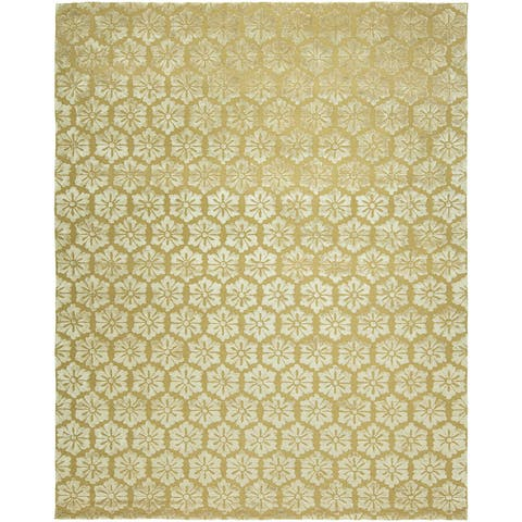Valencia Gold Wool Hand Tufted Area Rug 3 6 X 5