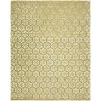 Valencia Gold Wool/Viscose Hand-tufted Area Rug (8' x 10')
