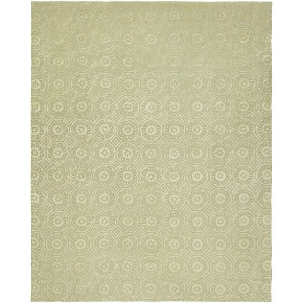 Valencia Beige/Ivory Hand-tufted Wool Area Rug (9' X 12')