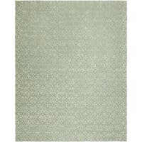 Valencia Blue Wool Hand-tufted Area Rug (8' x 10')