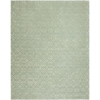 Valencia Blue Wool Hand-tufted Area Rug (9' x 12') - 9' x 12'