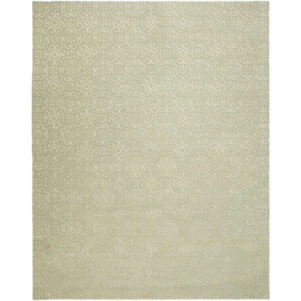 Valencia Camel Hand-tufted Wool Area Rug (10' x 14')