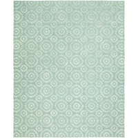 Valencia Ocean Blue Wool Hand-tufted Area Rug (10' x 14') - 10' x 14'