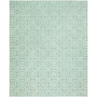 Valencia Ocean Blue Hand-tufted Wool Area Rug (9' x 12')