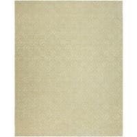 Valencia Off-white Wool Viscose Hand-Tufted Area Rug (10' x 14')