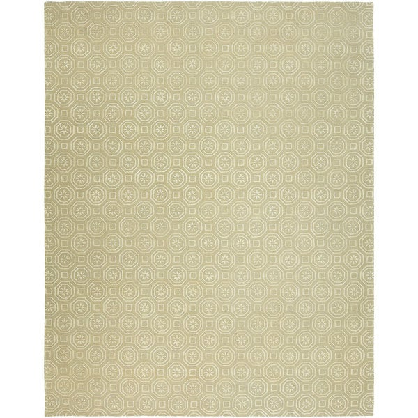 Valencia Off-white Wool Viscose Hand-Tufted Area Rug (10' x 14') - 10' x 14'