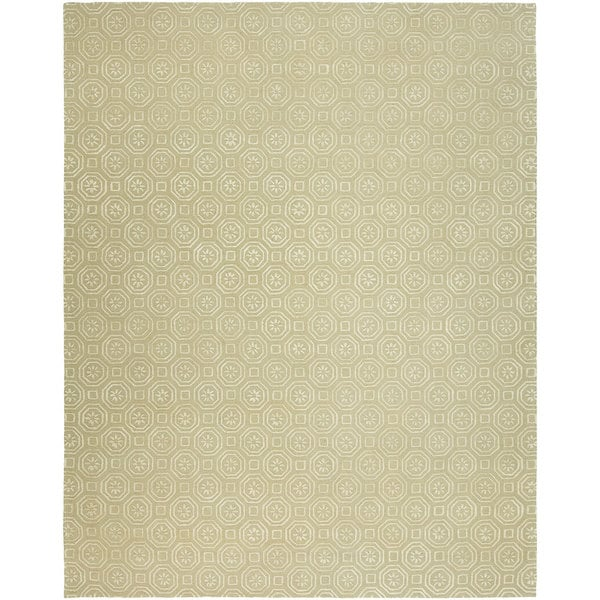 Valencia Off-white Wool Hand-tufted Area Rug (9' x 12')