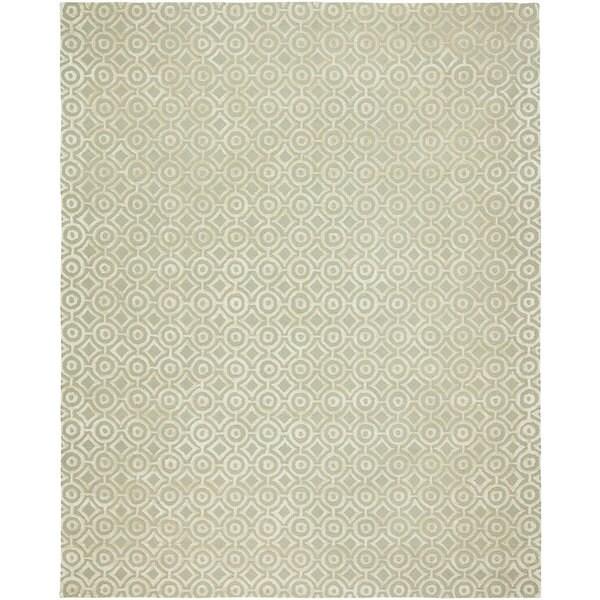 Valencia Teal Wool Hand-tufted Area Rug (10' x 14')