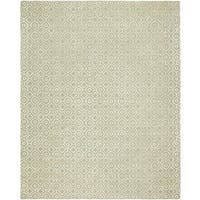 Valencia Cream Wool/Viscose Hand-tufted Area Rug (8' x 10')