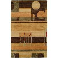 Vista 314 Multicolor Hand-tufted Wool Area Rug (8' x 11')