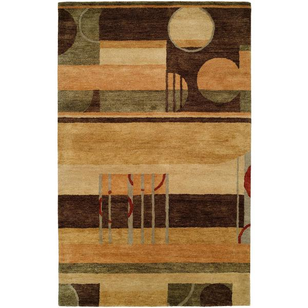 Vista 314 Multicolor Hand-tufted Wool Area Rug - 8' x 11'