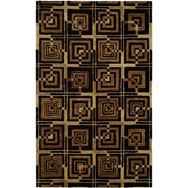 "Vista Multi Black/Camel Hand-Tufted Area Rug (2'6"" x 8')"