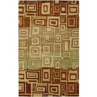 Vista Multi Red/Ombre Hand-Tufted Area Rug - 2'6 x 8'