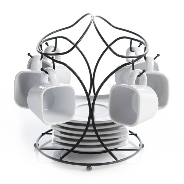 Espresso Cup Set With Stand Coffee Cups Rack