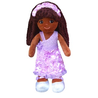 Emme Purple Roses & sparkles Soft plush Doll
