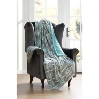 Kensie Bexley Reversible Sherpa Throw