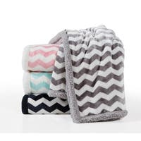 Lala Bash Fifi Chevron  Reversible Sherpa Throw