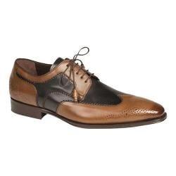 Men's Mezlan Lincoln Wingtip Oxford Tan/Blue Calf