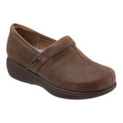 Women's SoftWalk Meredith Clog Dark Brown Oily Leather