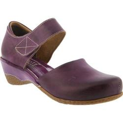 Women's L'Artiste by Spring Step Gloss Mary Jane Purple Leather