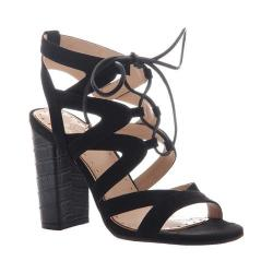 Women's Madeline Brunette Lace Up Sandal Black Textile