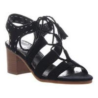 Women's Madeline Gallop Lace Up Sandal Black Textile