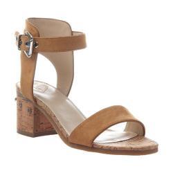 Women's Madeline Glow Block Heel Ankle Strap Sandal Rum Raisin Textile/Synthetic