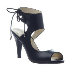 Women's Madeline Junebug Ankle Cuff Heel Black Synthetic
