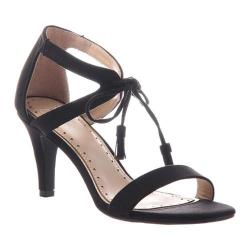 Women's Madeline Magnetic Heeled Sandal Black Textile