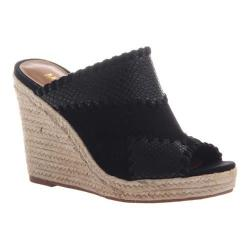 Women's Madeline Mix Wedge Slide Black Synthetic/Textile