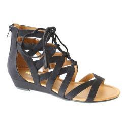 Women's Madeline Saturate Gladiator Sandal Black Textile