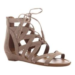 Women's Madeline Saturate Gladiator Sandal Mid Taupe Textile