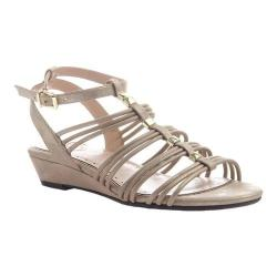 Women's Madeline Sound Ankle Strap Wedge Sandal Gold Synthetic