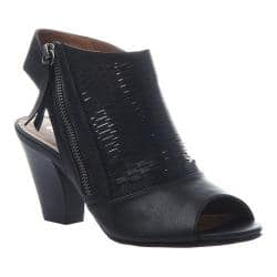 Women's Madeline Wishes Open Toe Shootie Black Synthetic|https://ak1.ostkcdn.com/images/products/186/326/P22503061.jpg?impolicy=medium