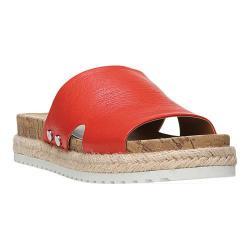 Women's Franco Sarto Elina Slide Sandal Orange Polly Lux Leather