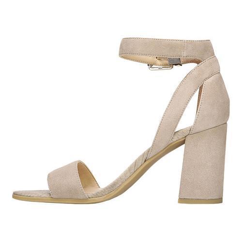 ... Women's Franco Sarto Malibu Ankle Strap Sandal Satin Taupe Diva  Suede